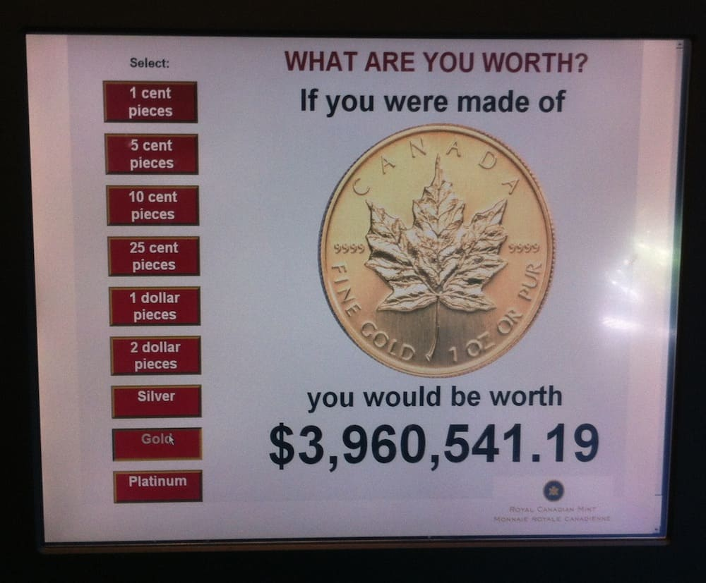 Royal Canadian Mint in Winnipeg What I Weigh in Gold