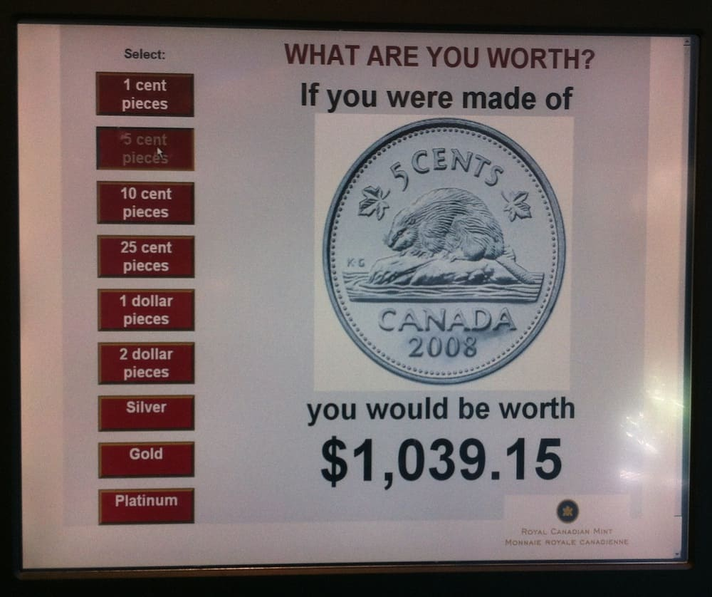 Royal Canadian Mint in Winnipeg What I Weigh in Nickels
