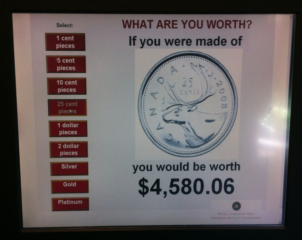 Royal Canadian Mint in Winnipeg What I Weigh in Quarters
